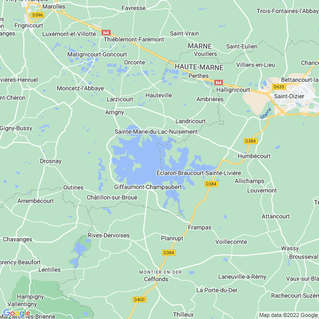 Locatie Lac de Der-Chantecoq