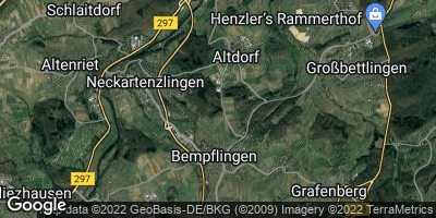 Google Map of Altdorf bei Nürtingen