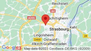 Carte de localisation du centre de contrôle technique ECKBOLSHEIM