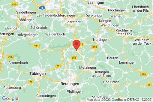 Karte Neckartenzlingen