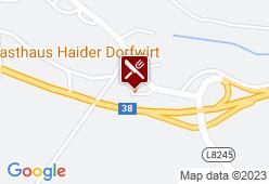 Gasthaus Haider - Karte