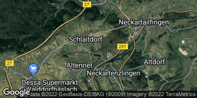 Google Map of Neckartenzlingen