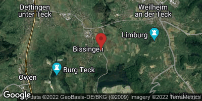Google Map of Bissingen an der Teck