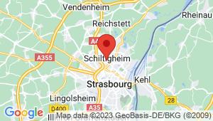 Carte de localisation du centre de contrôle technique SCHILTIGHEIM