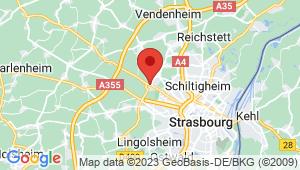 Carte de localisation du centre de contrôle technique OBERHAUSBERGEN