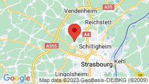 Carte de localisation du centre de contrôle technique MITTELHAUSBERGEN