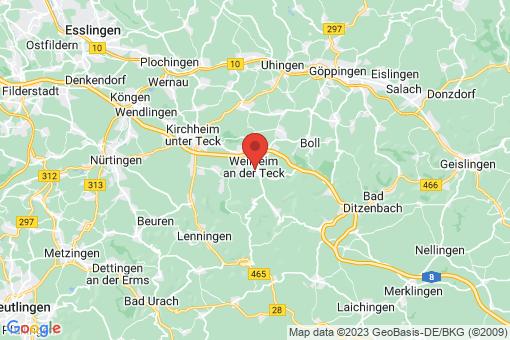 Karte Weilheim an der Teck