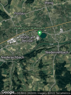 Google Map of Wörth an der Isar