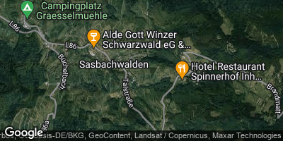 Google Map of Sasbachwalden