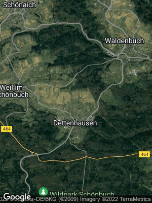 Google Map of Dettenhausen