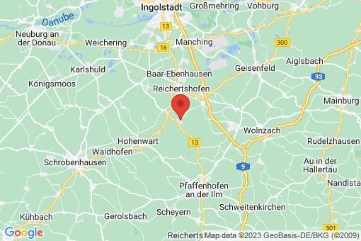 Karte Pörnbach