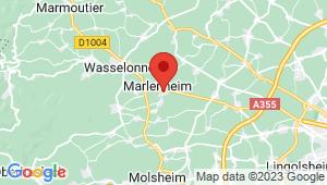 Carte de localisation du centre de contrôle technique MARLENHEIM