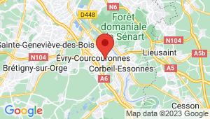 Carte de localisation du centre de contrôle technique EVRY