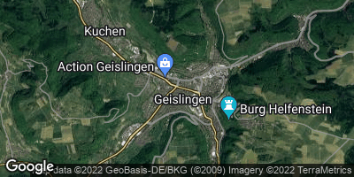 Google Map of Geislingen an der Steige