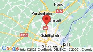 Carte de localisation du centre de contrôle technique SOUFFELWEYERSHEIM
