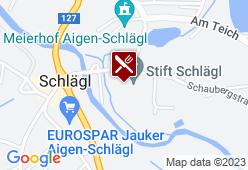 Stiftskeller im Stift Schlägl - Karte