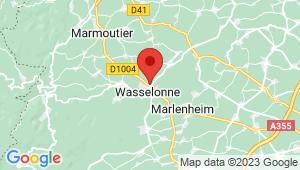 Carte de localisation du centre de contrôle technique WASSELONNE