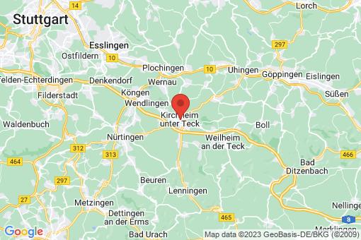 Karte Kirchheim unter Teck