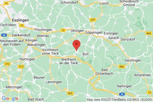 Karte Zell unter Aichelberg