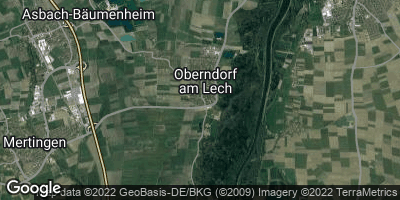 Google Map of Oberndorf am Lech