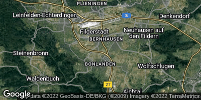 Google Map of Filderstadt