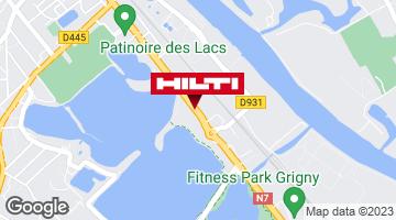 Get directions to Espace Hilti - La Plateforme du Bâtiment - Grigny