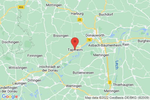 Karte Tapfheim