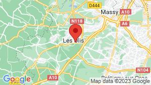 Carte de localisation du centre de contrôle technique LES ULIS