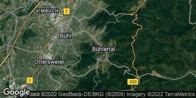 Google Map of Bühlertal