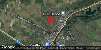 Google Map of Köngen