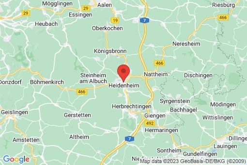 Karte Heidenheim an der Brenz