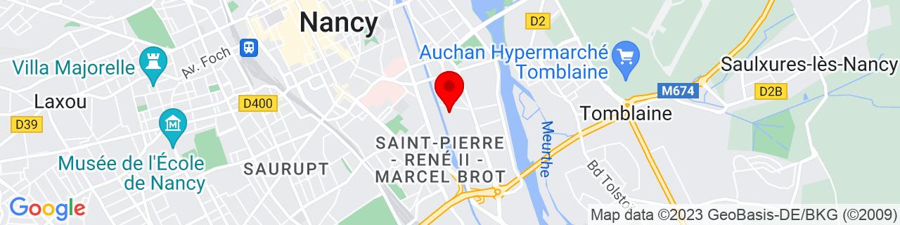 Google Map of 48.68333, 6.2