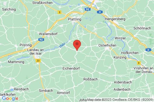 Karte Wallerfing