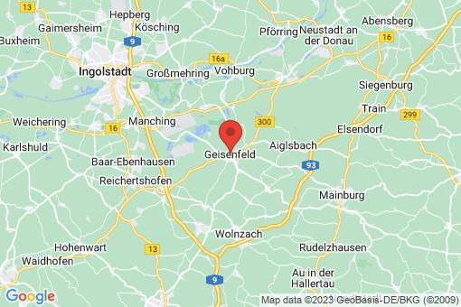 Karte Geisenfeld