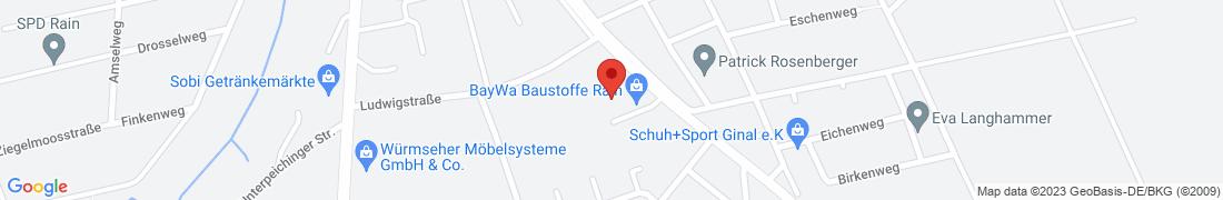 BayWa Baustoffe Rain a. Lech Anfahrt