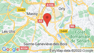 Carte de localisation du centre de contrôle technique MORANGIS