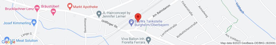 BayWa Tankstelle Burgheim/Oberbayern Anfahrt