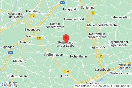 Karte Rottenburg an der Laaber