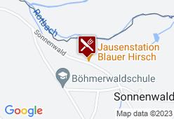 Jausenstation Blauer Hirsch - Karte
