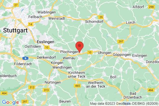 Karte Reichenbach an der Fils