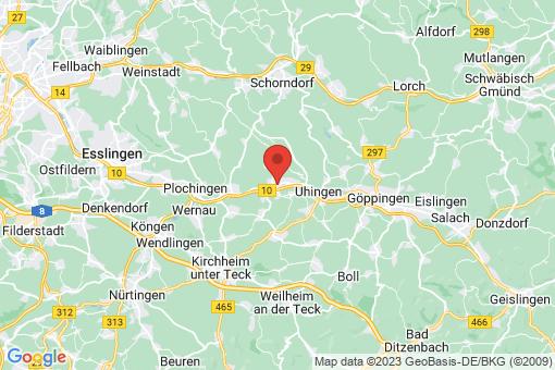 Karte Ebersbach an der Fils