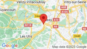 Carte de localisation du centre de contrôle technique Palaiseau