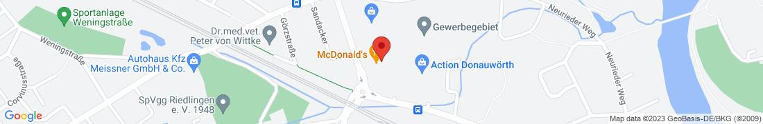 BayWa Baustoffe Donauwoerth Anfahrt
