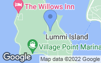 Map of Lummi Island, WA