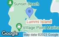 Map of Lummi Island, WA