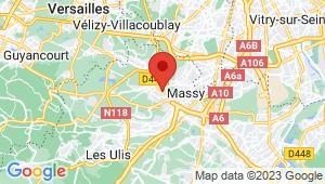 Carte de localisation du centre de contrôle technique IGNY