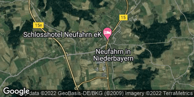 Google Map of Neufahrn in Niederbayern