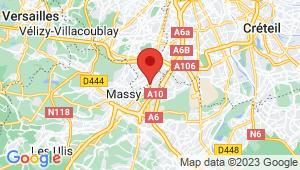 Carte de localisation du centre de contrôle technique MASSY