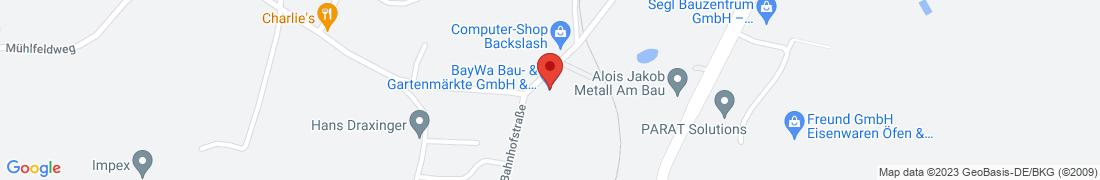 BayWa Baustoffe Waldkirchen Anfahrt
