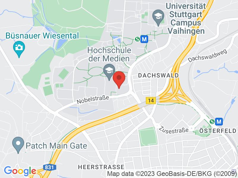 Map of Hochschule für Medien